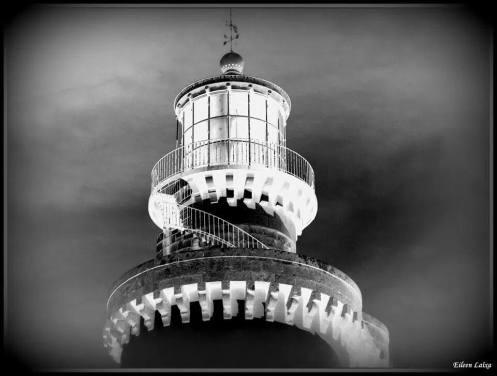 Hélène Lessour photo du phare Le Stiff Ouessant