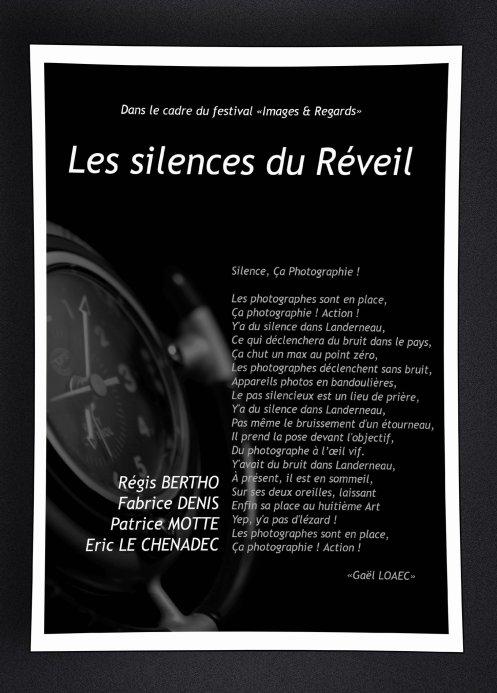 Affiche les silences du Réveil par Fabrice Denis